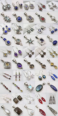 Wholesale Lot! 925 Silver Earrings Pendants Stone Sets!