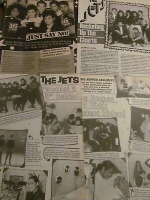 The Jets, Lot of THREE Full and Two Page Vintage Clippings