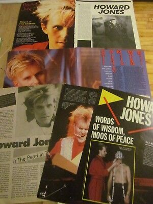 Howard Jones, Lot of FIVE Full and Two Page Vintage Clippings