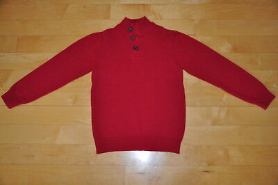Boys Size L 10/12 TCP Red Holiday Christmas Winter Sweater, LN, Nice!