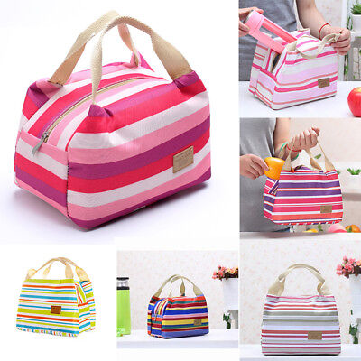 Ladies Girls Thermal Portable Insulated Cooler Lunch Box Carry Tote Storage Bag