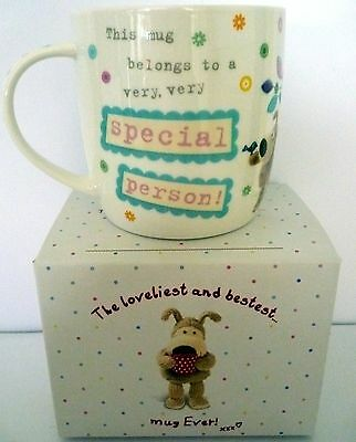 """""""boofle"""" China Mug """"very Special Person! Xxx"""" Gift Boxed Christmas Birthday Gift"""