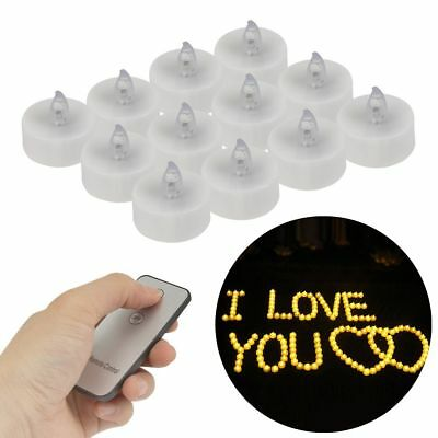 Hot 12pcs Flickering LED Tealight Candles Wedding Christmas Party Remote Control