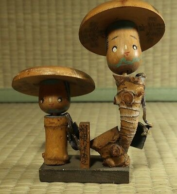 Small Wooden Kokeshi-Type Figure / Japanese / Vintage