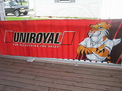 """Used Banner for UNIROYAL Tires Sales Service Parts 117"""""""