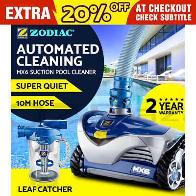 Zodiac MX6 Vacuum Pool Cleaner Suction Leaf Catcher Swimming Automatic Barracuda