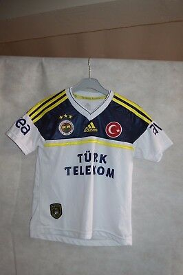 Maillot De Foot Adidas Fenerbahce Taille 11/12 Ans 152 Cm  Jersey Soccer Turc