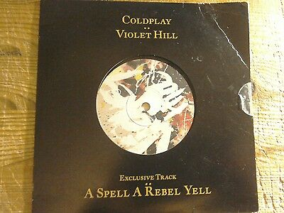 """7"""" Vynyl Record.Coldplay Violet Hill/A Spell a Rebel Yell.Parlophone."""