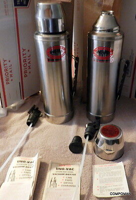 UNO-VAC Stainless Steel 2 Quart Thermos Big Boys Vintage NEW GET TWO FREE Ship