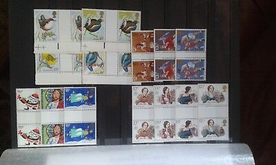 GB UNM / USED GUTTER PAIRS postal value over £11.50