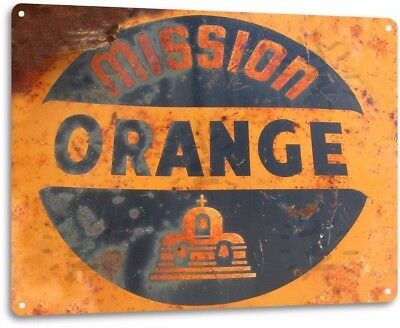 Mission Orange Soda Vintage Retro Tin Metal Sign