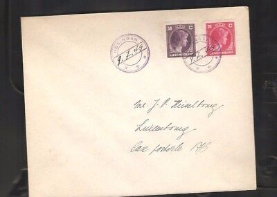 002  Luxembourg from Treasure  Kautschuk cancelation with date rare only Rare