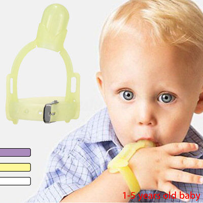 Baby Kids Thumbsucking Thumb Sucking Stop Finger Guard Protect Silicone Tool