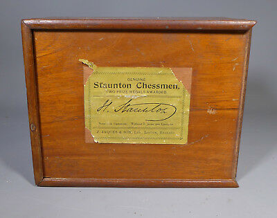 Antique Jaques Staunton Chess Set In Superb Undamaged Condition With Box