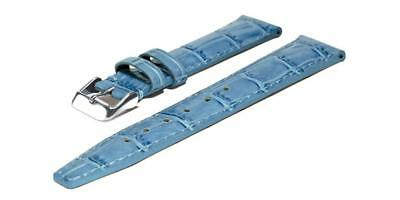 Chris Benz Leather Strap For One Medium 200m 18 mm Caribbean Blue