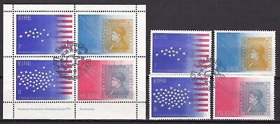 Ireland 1977 Us Independence Set + S/s (11) Used