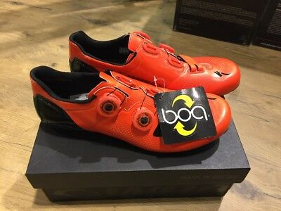 Specialized S-Works 6 Road Shoes - Size 42 - Rocket Red Dipped