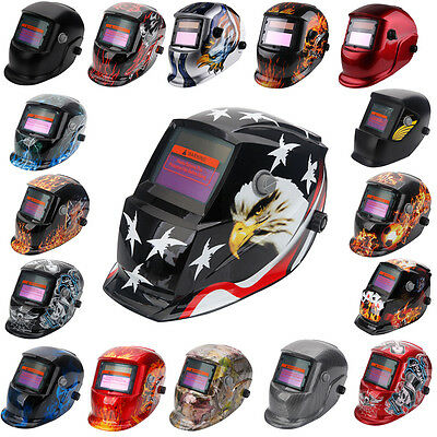 Lot 45 Pro Solar Powered Auto-Darkening Welding Helmet Mask Grinding Welder Weld