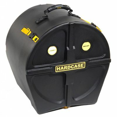Hardcase 14″ Floor Tom Case - Black with Gold Webbing