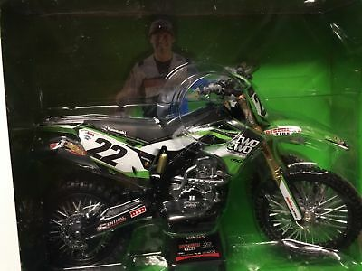 Chad Reed Kawasaki Kx 450 F Toy Model Diecast 1:12 Scale Gift Idea Christmas