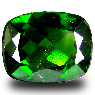 2.40 ct  Incomparable Cushion Shape (9 x 7 mm) Green Chrome Diopside Gemstone
