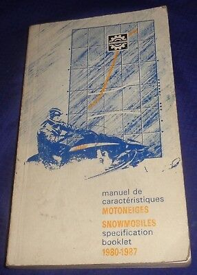 BS697 Bombardier Ski-Doo Snowmobiles Specification Booklet 1980 - 1987