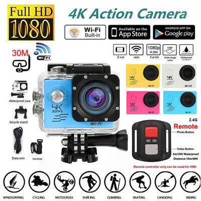 4K SJ8000R WIFI Sport Action Camera 2inch DV 1080P HD Cam DVR Waterproof+Remote