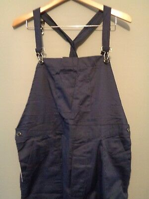 Vtg NOS blue work trousers bibs overalls chore trousers pants dungarees