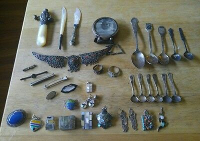 Vinyage Sterling silver lot Antique Sterling