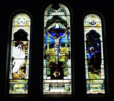 Beautiful Stained Glass Portraying the Crucifixion