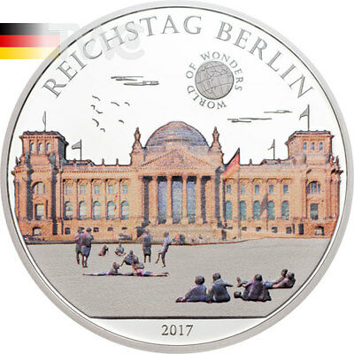 Reichstag Berlin World of Wonders Proof Silver Coin 5$ Palau 2017