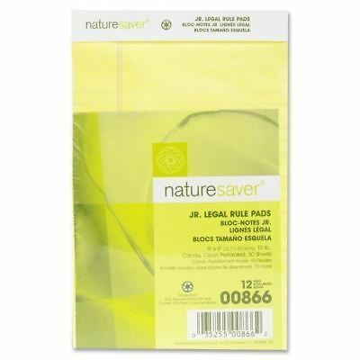 Nature Saver 100% Recy. Canary Jr. Rule Legal Pads 00866