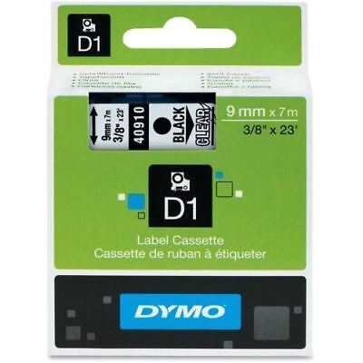 Dymo Black on Clear D1 Label Tape 40910