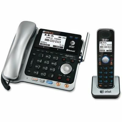 AT&T Connect to Cell TL86103 DECT 6.0 Cordless Phone - Silver Black TL86103