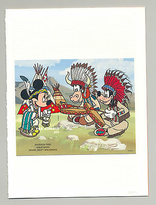 Gambia #1713 Disney, American Indians 1v S/S Imperf Chromalin Proof in Folder