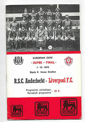 1978/79 European Super Cup Final - ANDERLECHT v. LIVERPOOL
