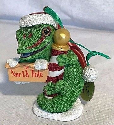 Danbury Mint GECKO Baby Animals Christmas Ornament with Tag