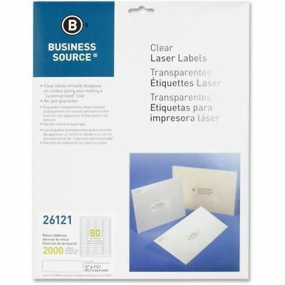 Business Source Clear Address Label 26121