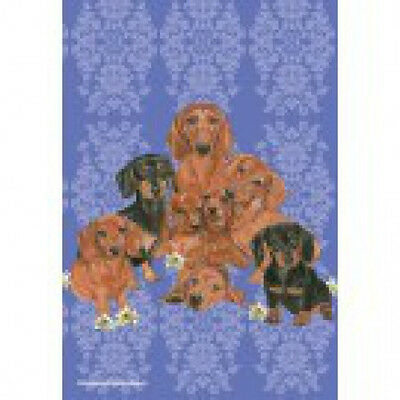Garden Indoor/Outdoor Pipsqueak Flag - Dachshund Group 495431