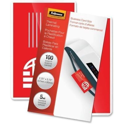 Fellowes Glossy Pouches - Business Card, 5 mil, 100 pack 52031