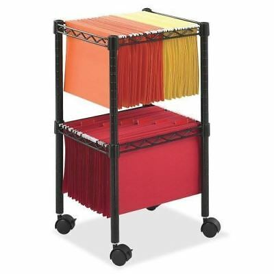 Safco 2-Tier Compact File Cart 5221BL