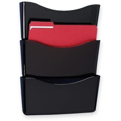 Rubbermaid Triple Pockets Decker Wall File 65974ROS