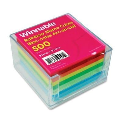 Winnable Rainbow Note Sheets Memo Cube 40001