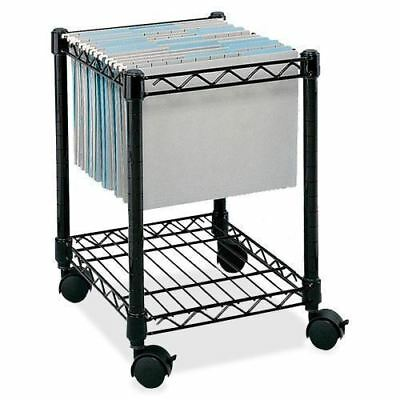Safco Compact Mobile File Cart 5277BL