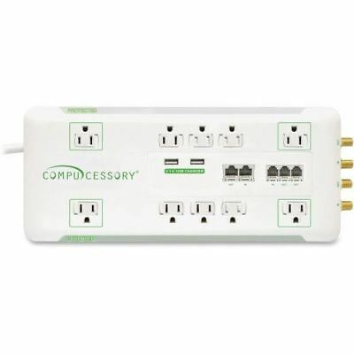 Compucessory 10-Outlet Surge Suppressor/Protector 31900