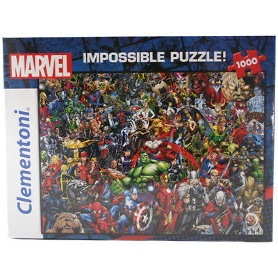 "Clementoni Marvel Comic Character ""Impossible"" 1000 Piece Jigsaw Puzzle NEW"