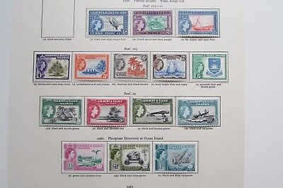 XL2973: Gilbert and Ellice Islands QEII Complete Set Mint Stamps to 10/- (1956).