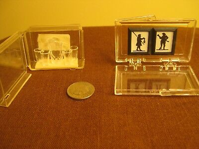 2 Chrysnbon miniatures new old stock glassware & 2 pictures