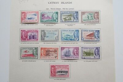 XL3039: Complete Mint Set 1950 Cayman Islands Stamps to 10/-.
