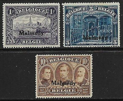 GERMANY 1920 Occ. Of Belgium Malmedy High Values Selection MH/* (Cat £160)